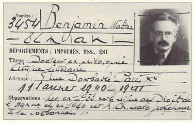 Tessera per la biblioteca di Walter Benjamin