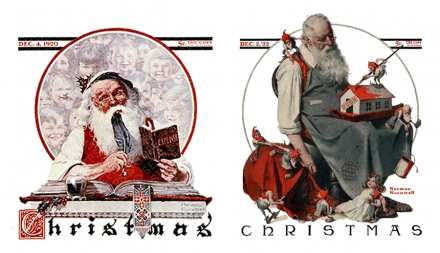 I babbo natale di Norman Rockwell
