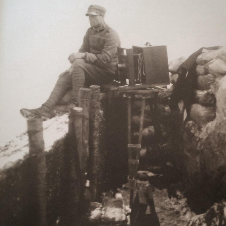 Carlo Balelli a Passo Ombrettola, 16 aprile 1916, CFB