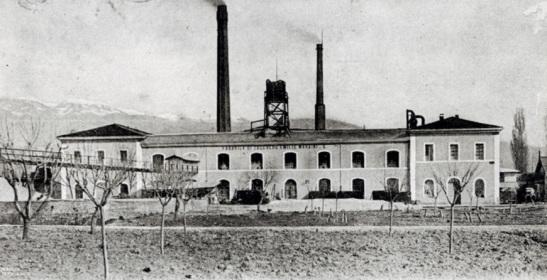 Zuccherificio, Rieti, primi Novecento