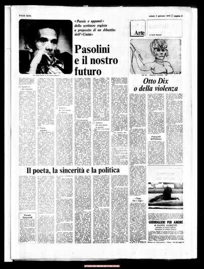 Pier Paolo Pasolini: 40 anni senza. Una iniziativa molto ricca che lo vedrà presente... (3/5)
