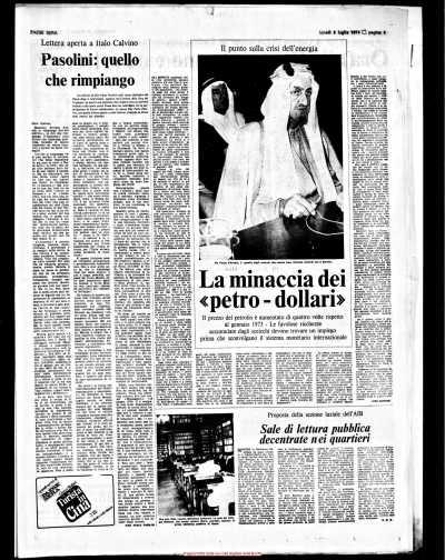 Pier Paolo Pasolini: 40 anni senza. Una iniziativa molto ricca che lo vedrà presente... (4/5)