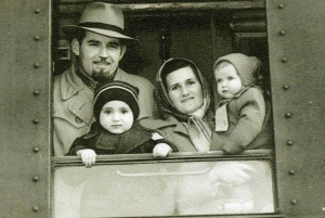 The refugee family of Milorad Popovich (as a child) escaping Yugoslavia and Communism, on their way to America in 1950. Photo courtesy of Milorad Popovich, http://www.generalmihailovich.com/